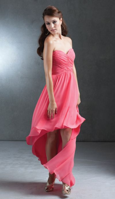 13913c71301 Mori Lee 676 High Low Chiffon Bridesmaid Dress  French Novelty