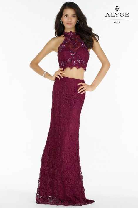 Alyce Paris 6762 Lace 2 Piece Prom Dress: French Novelty