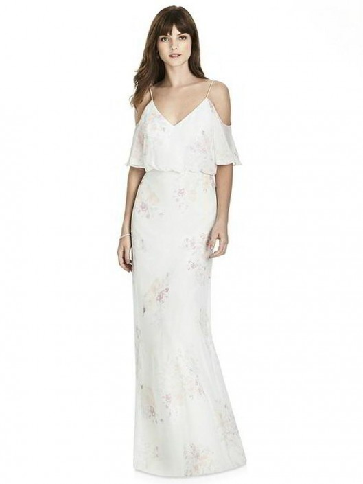 dee9497ad3d9 After Six 6781 Cold Shoulder Bridesmaid Dress: French Novelty
