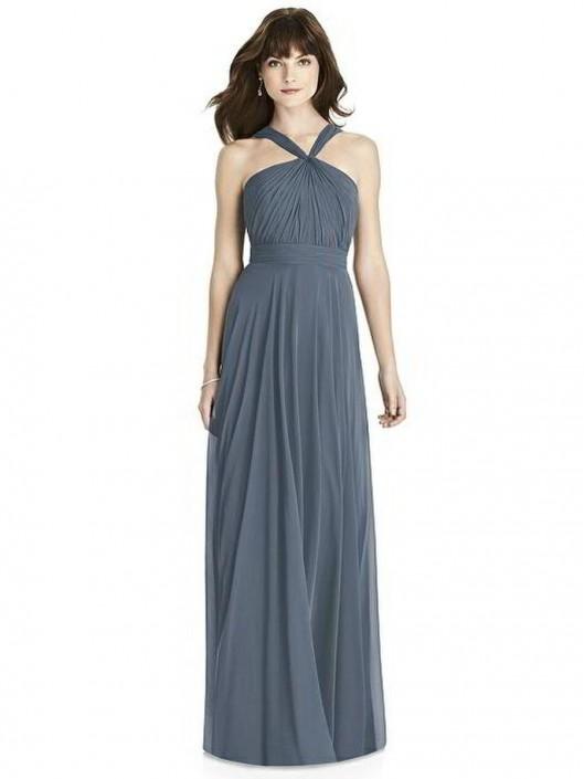 After Six 6783 Halter Twist Bridesmaid Dress