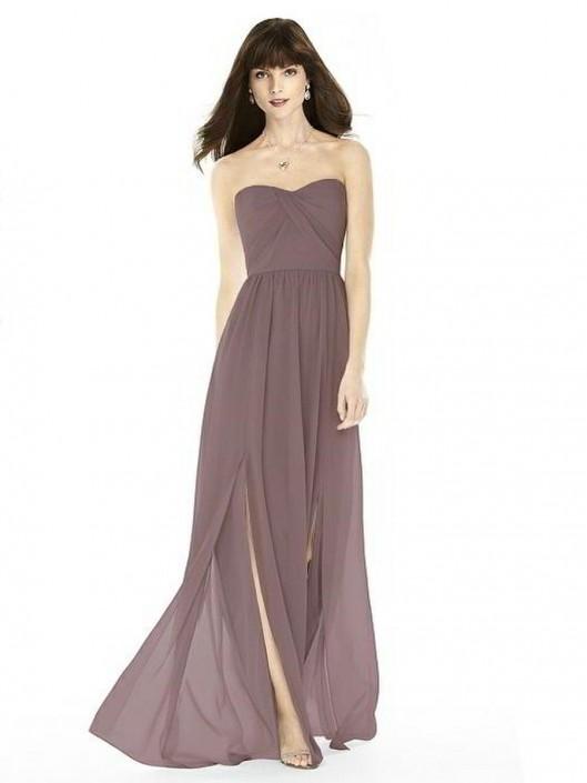 After Six 6794 Draped Lux Chiffon Bridesmaid Dress: French Novelty