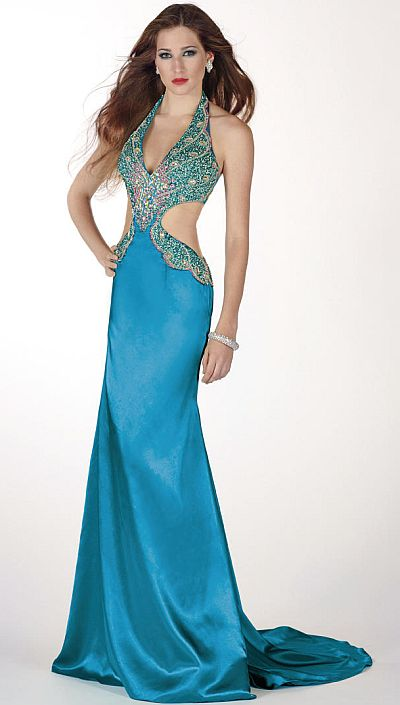 Peacock Looking Prom Dresses