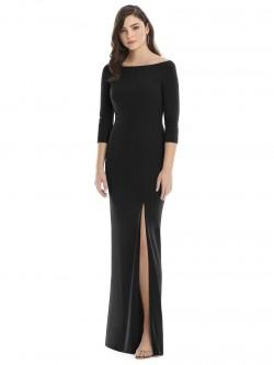 24aeaf79b55 After Six 6812 High Slit 3 4 Sleeve Bridesmaid Dress