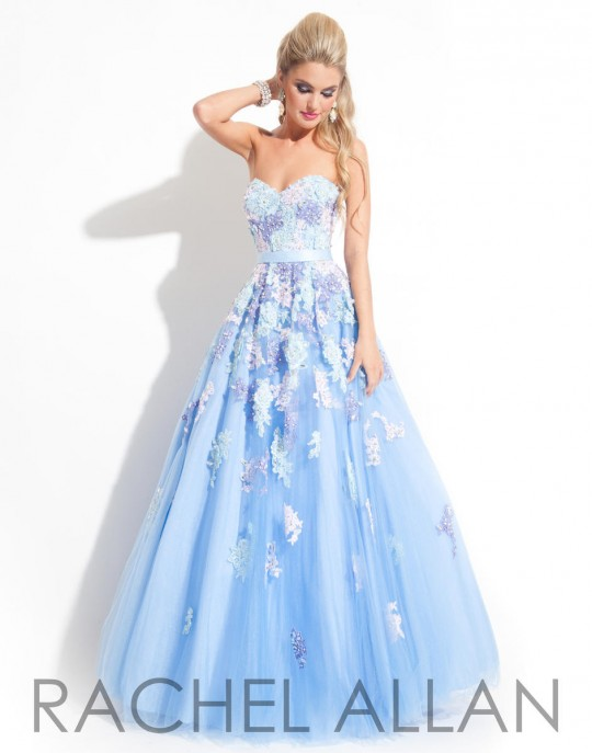 5a2834f9ec8 Rachel Allan 6818 Lace Tulle Ball Gown  French Novelty
