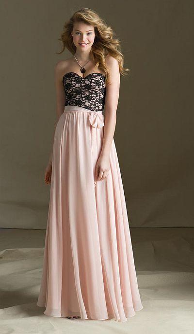 Mori Lee 682 Lace And Chiffon Bridesmaid Dress