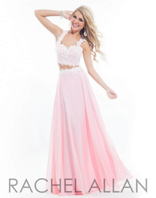 0316f7f012d Rachel Allan 6832 2pc Chiffon Prom Gown  French Novelty