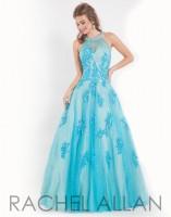 Rachel Allan 6835 High Mesh Neck Ball Gown image
