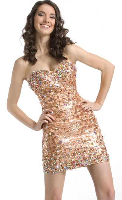 Sequin Homecoming Dress