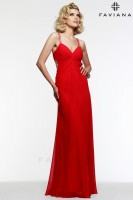 Faviana 6925 Ruched Chiffon Evening Dress image