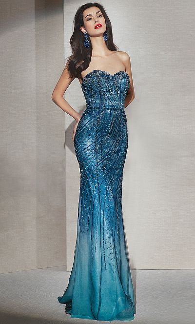 Alyce Elegant Hand Beaded Gown 6944 French Novelty