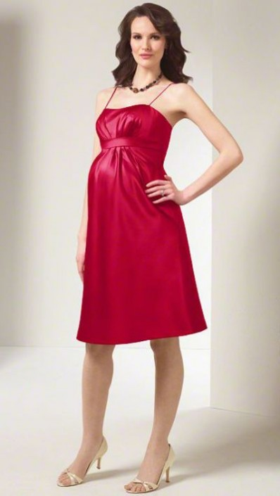 Alfred Angelo Satin Cocktail Length Maternity Bridesmaid Dress ...
