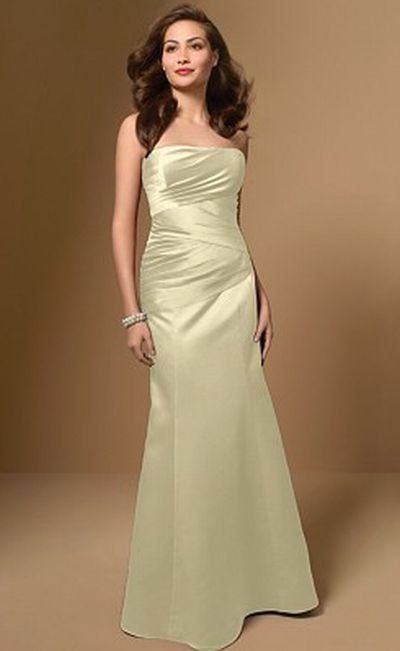Alfred Angelo Satin Bridesmaid Dress with Modesty Piece 7006 ...