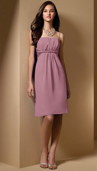 Alfred Angelo Cocktail Length Bridesmaid Dress 7015: French Novelty