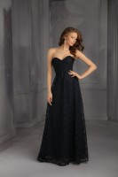 Mori Lee Bridesmaids 702 Long Lace Dress image
