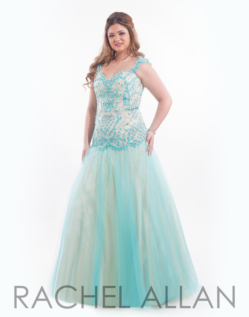 Rachel Allan 7034 Drop Waist Plus Size Dress: French Novelty