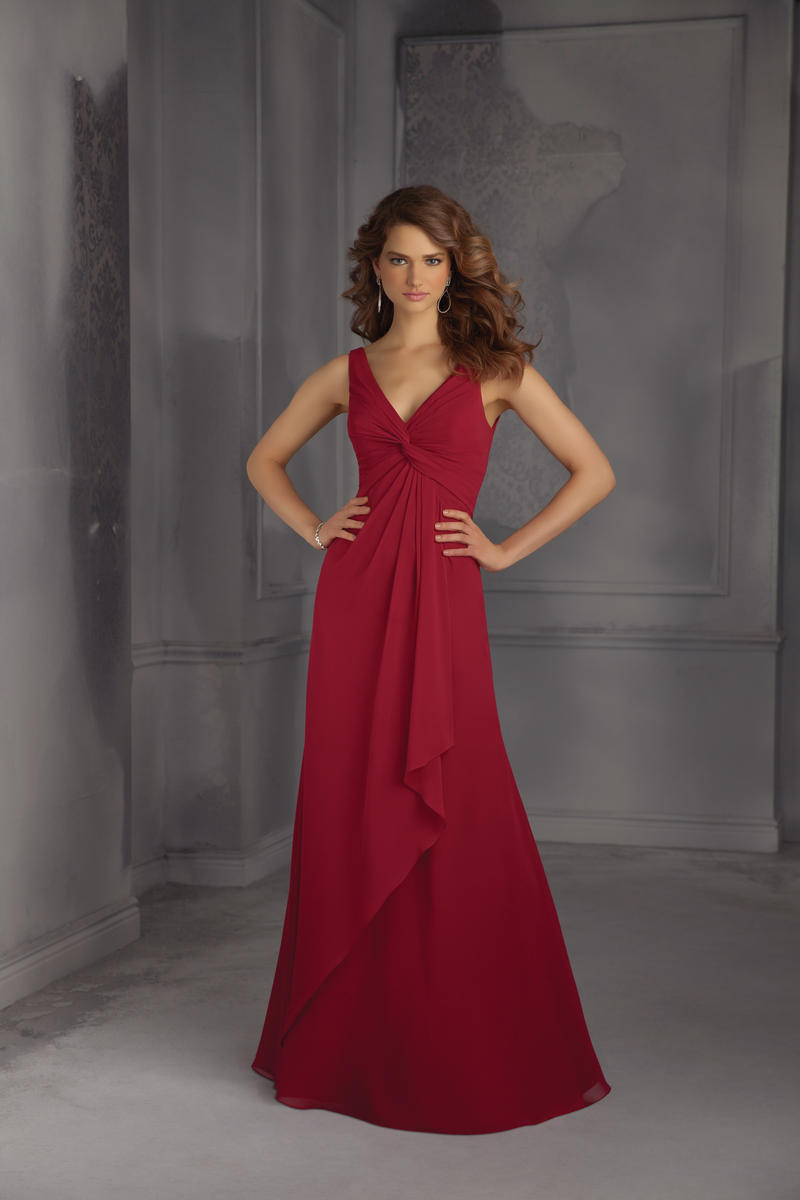 Mori lee 704 v neck long bridesmaid dress french novelty for Plus size wedding dresses minneapolis mn