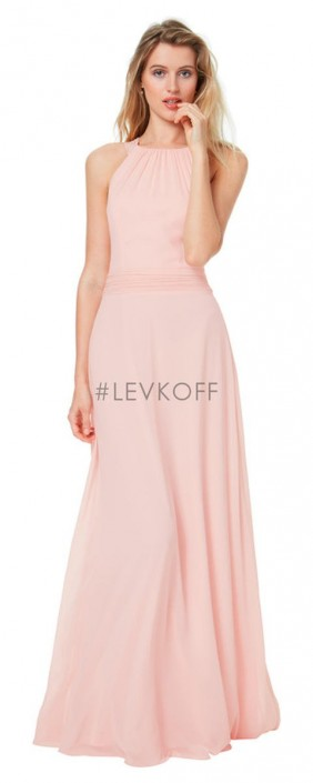 Levkoff By Bill 7040 Drop Waist Bridesmaid Dress