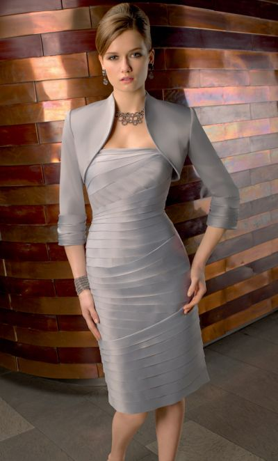 507543e14e VM Collection Sophisticated Knee Length MOB Dress with Jacket 70433  French  Novelty