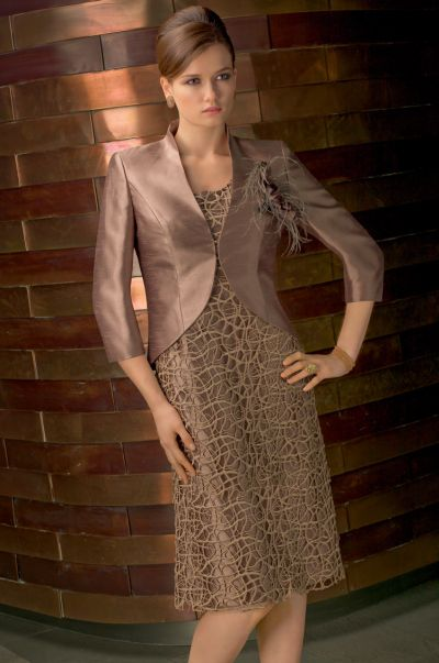 VM Collection Lace Shantung Short Mothers Dress and Jacket 70435 ...