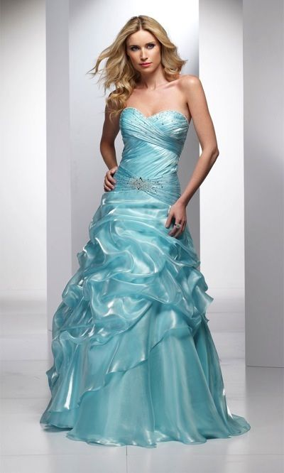 Alyce Designs Exclusive Shiny Prom Dress with Tiered Tucked Skirt ...