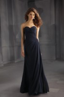 Mori Lee Bridesmaids 705 Ruched Long Dress image