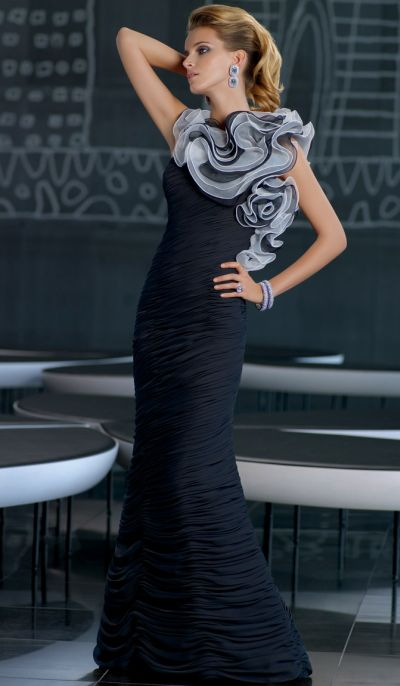 VM Collection Striking Ruffle Mothers Wedding Dress 70503: French ...