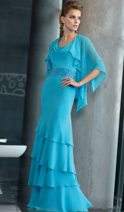 e7c089e3920 VM Collection Softly Draped Mothers Evening Dress with Jacket 70507  French  Novelty