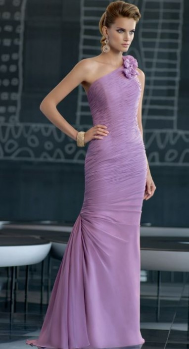 85583ed0da VM Collection One Shoulder Ruched Mermaid Evening Dress 70508  French  Novelty