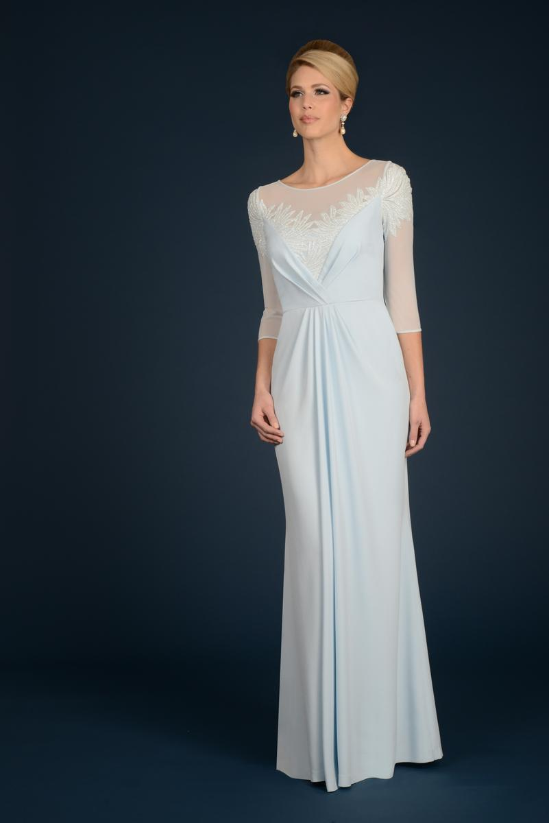 Daymor couture 707 mother of the bride illusion dress for French couture dresses