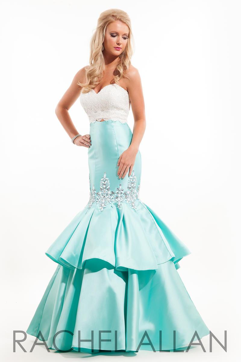 Rachel Allan 7075 Layered Mermaid Prom Dress: French Novelty