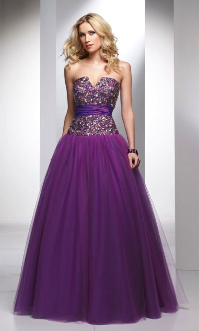 Alyce Designs Exclusive Tulle Prom Ball Gown with Jeweled Bodice ...