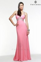 Faviana 7118 Beaded Chiffon Evening Dress image