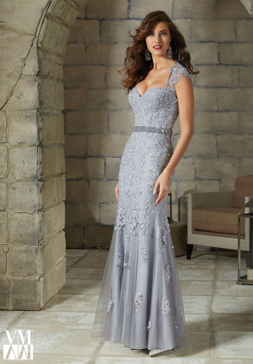 VM Collection 71130 Cap Sleeve Jersey Gown | Vestidos