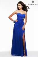Faviana 7122 Gown with Beaded Cut Outs image