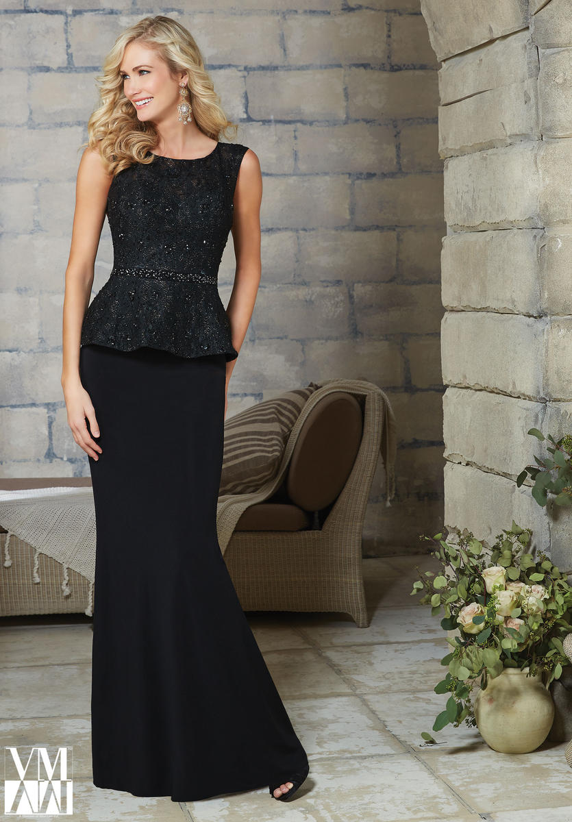 VM Collection 71105 Beaded Evening Dress: French Novelty