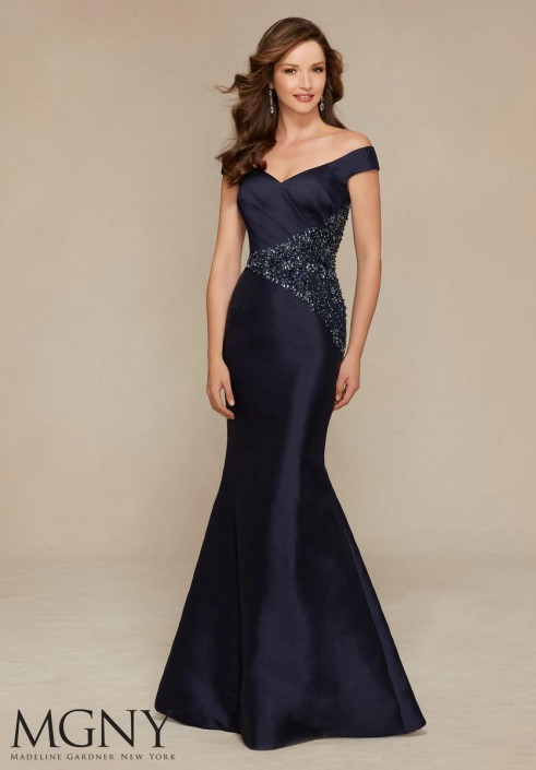 55f08785449 MGNY by Mori Lee 71307 Off Shoulder Mermaid Gown  French Novelty