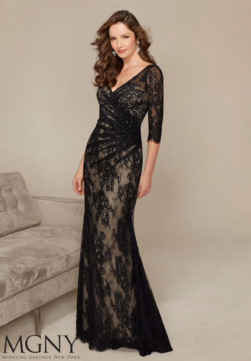 Mgny By Mori Lee 71313 Allover Lace Mob Gown French Novelty