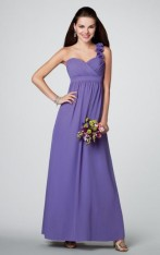 69dcce225d Size 10 Purple Alfred Angelo 7138L One Shoulder Bridesmaid Gown