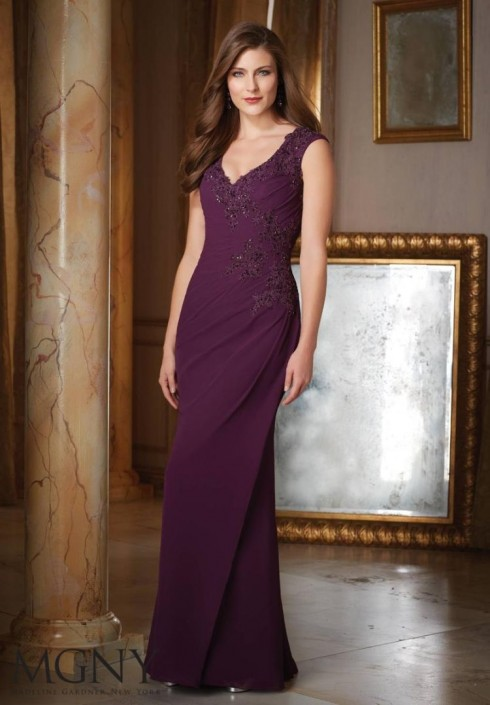 MGNY by Mori Lee 71418 Formal Gown for Military Ball: French Novelty