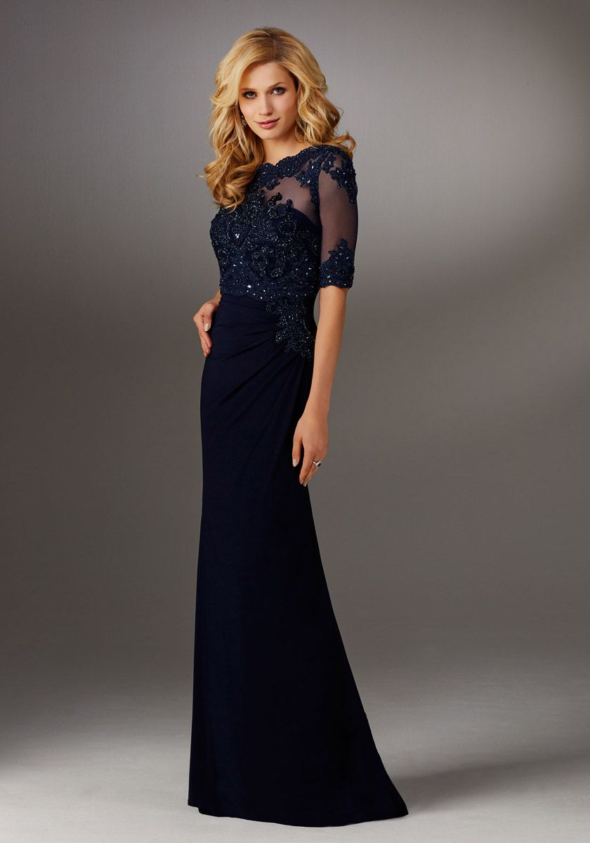 Mgny By Morilee 71510 Strapless Gown With Sheer Jacket