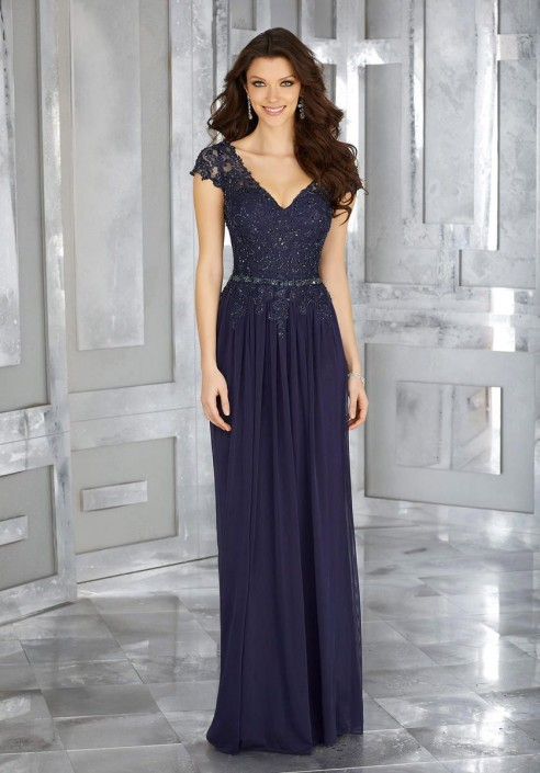 Morilee MGNY 71613 Designer Mothers Gown with Beaded Lace: French ...