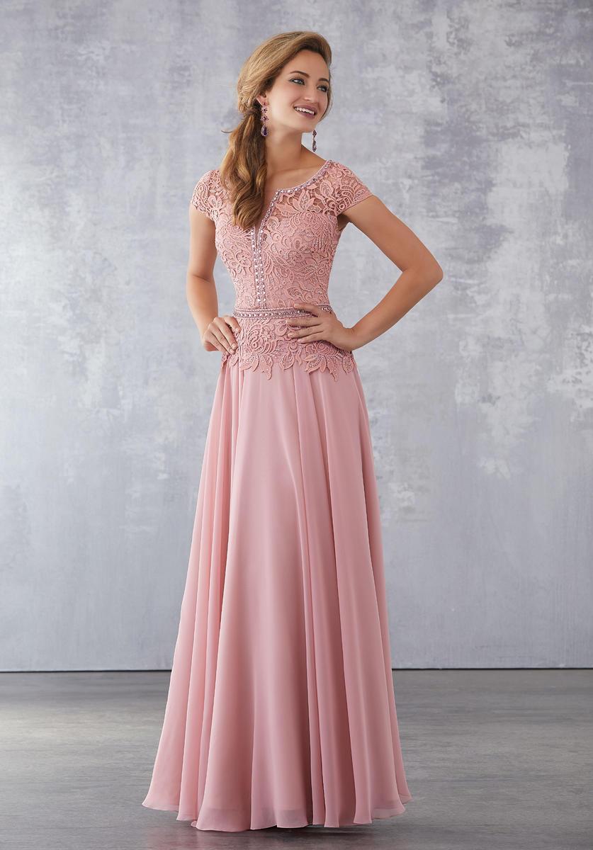 MGNY by Morilee 71702 Venice Lace MOB Dress: French Novelty