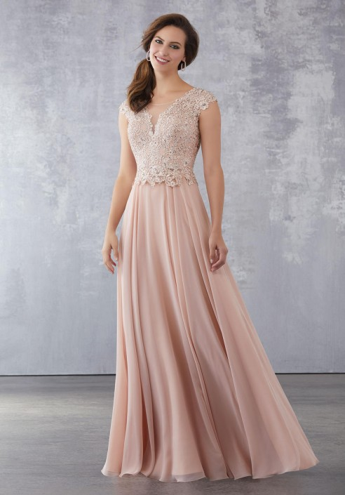 ba53b545026 MGNY by Morilee 71705 Beaded Lace Mother of Groom Dress  French Novelty