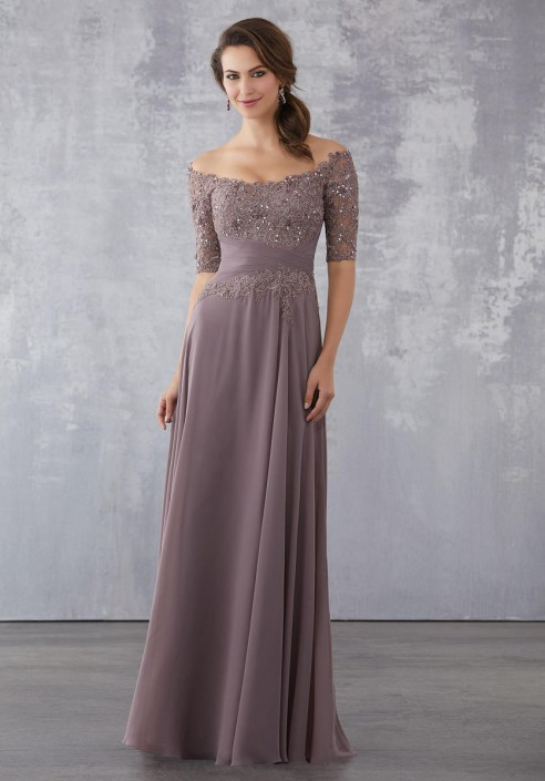Mgny By Morilee 71706 Off Shoulder Mother Of Bride Dress