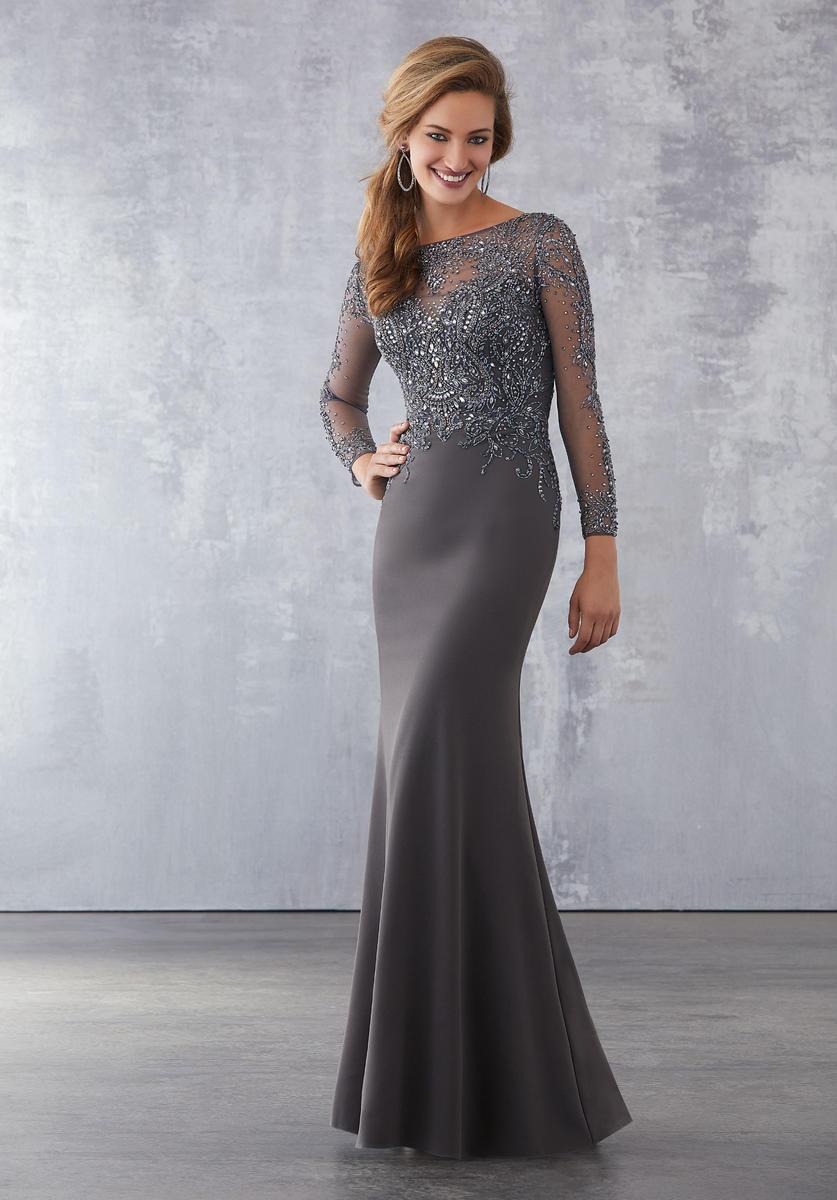 Mgny By Morilee 71716 Sheer Beaded Mother Of Groom Dress