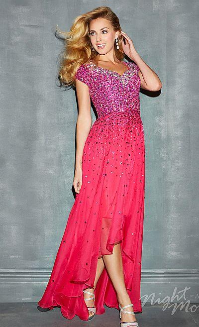 Night Moves 7171M Modest Feminine Evening Dress: French Novelty
