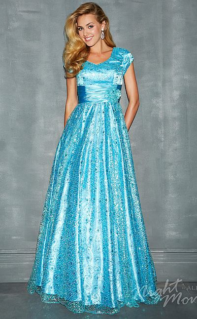 Night Moves 7173M Modest Detailed Formal Dress: French Novelty