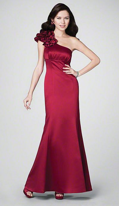1baa3a71b10 Alfred Angelo One Shoulder Ruffle Long Bridesmaid Dress 7179  French Novelty