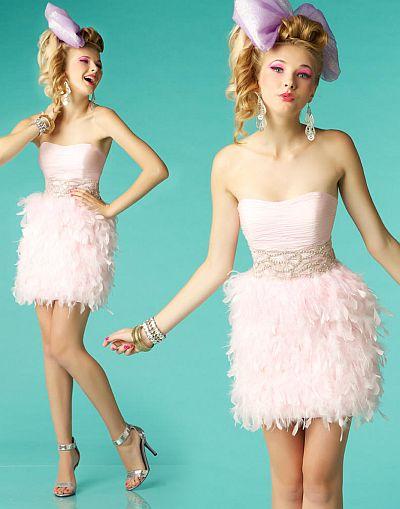 BabyDoll by MacDuggal Sassy Feather Short Prom Dress 7179B: French ...