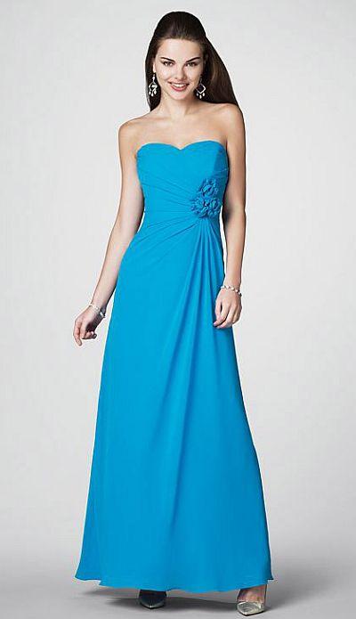 Alfred Angelo Flattering Chiffon Long Bridesmaid Dress 7180